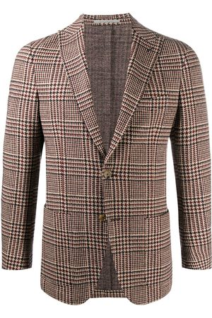 Eleventy Miehet Bleiserit - Check single-breasted fitted blazer