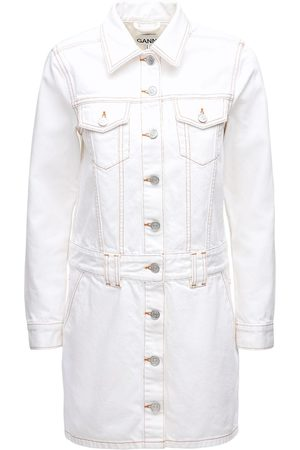 Ganni Cotton Denim Mini Dress