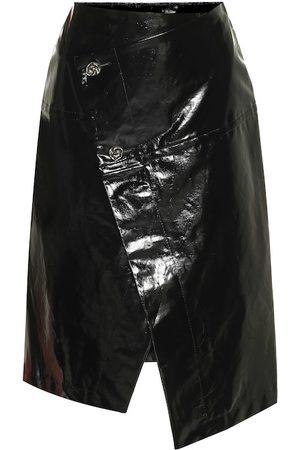 Marni Patent faux leather midi skirt