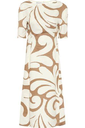 Marni Naiset Printtimekot - Printed cotton and linen midi dress