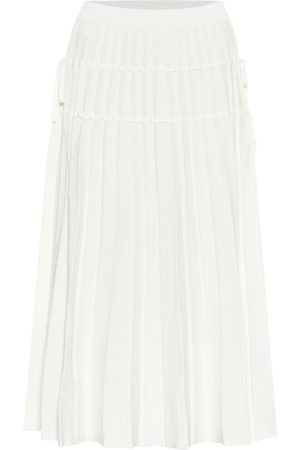 JONATHAN SIMKHAI Raelynn pleated knit midi skirt