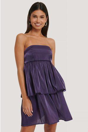 NA-KD Naiset Olkaimettomat Mekot - Off Shoulder -Minimekko - Purple