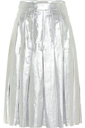 Golden Goose Anastasia metallic leather miniskirt