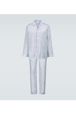 DEREK ROSE Printed cotton pajama set