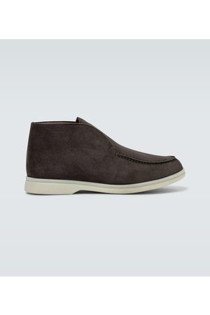 Loro Piana Suede Open Walk ankle boots