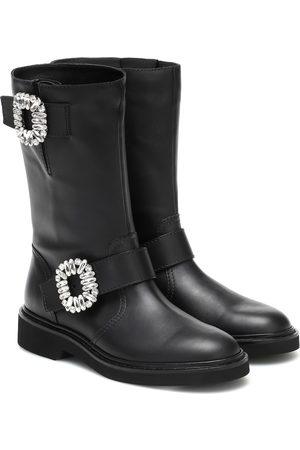 Roger Vivier Viv' Strass leather ankle boots