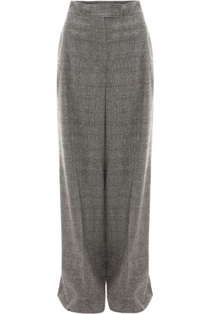 J.W.Anderson High Waist Checked Wool Wide Leg Pants