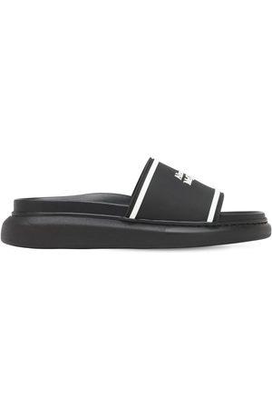 Alexander McQueen Logo Print Slide Sandals