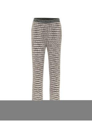 Missoni Naiset Collegehousut - Wool-blend cropped pants