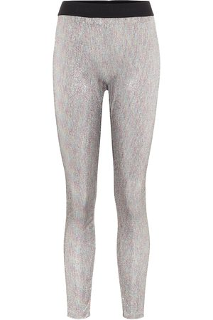 Paco rabanne Naiset Leggingsit - Bodyline metallic knit leggings