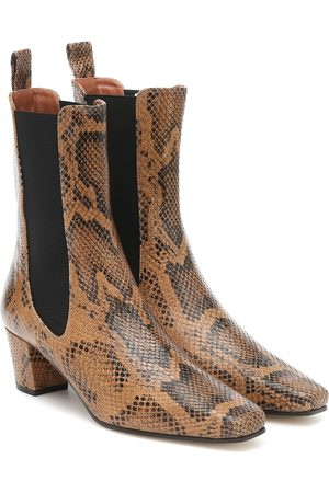 PARIS TEXAS Naiset Nilkkurit - Snake-effect leather ankle boots
