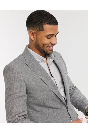 Shelby & Sons Slim suit jacket in mini check in mono-Black