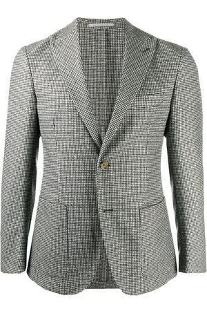 ELEVENTY Check single-breasted blazer