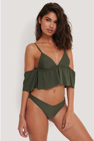 NA-KD Naiset Bikinit - V-Muotoiltu Bikinialaosa - Green