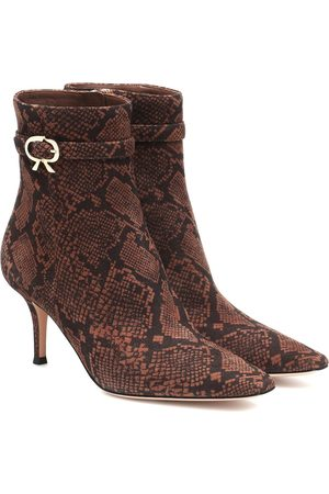 Gianvito Rossi Remy 70 snake-effect ankle boots