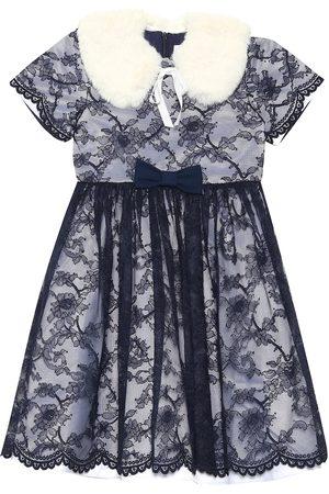 Rachel Riley Tytöt Huivit - Faux fur collar lace dress