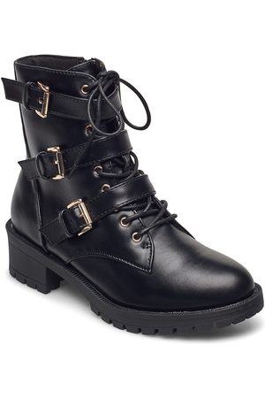 Bianco Naiset Nilkkurit - Biaclaire Basic Biker Boot Shoes Boots Ankle Boots Ankle Boots Flat Heel