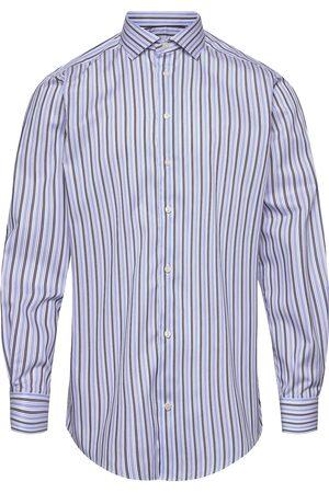 Eton Blue & Navy Striped Fine Twill Stretch Shirt Paita Rento Casual