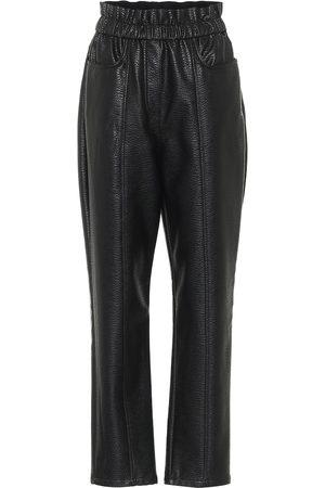 Serafini High-rise faux leather pants