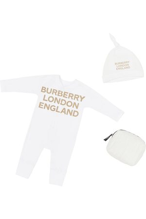 Burberry Cotton Jersey Romper & Hat