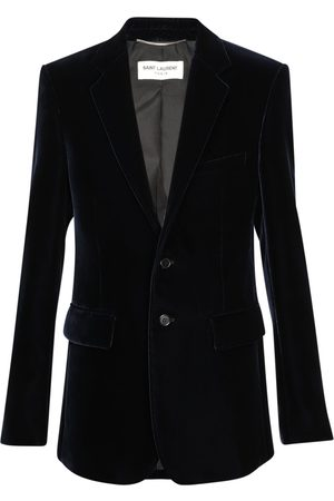 Saint Laurent Single Breast Slim Fit Velvet Jacket