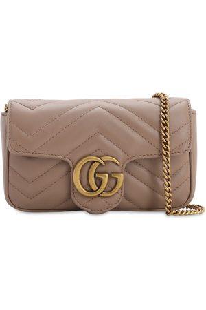 Gucci Naiset Olkalaukut - Super Mini Gg Marmont Leather Bag