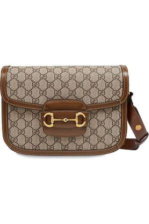 Gucci 1955 Horsebit Gg Supreme & Leather Bag