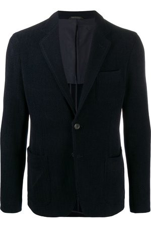 Armani Miehet Bleiserit - Herringbone single-breasted blazer