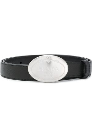 Prada Naiset Vyöt - Saffiano logo buckle belt