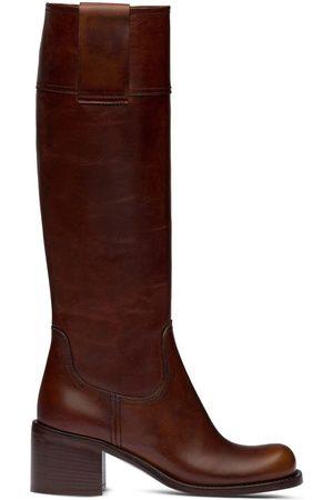 Miu Miu Naiset Ylipolvensaappaat - Pull-tab knee-high boots