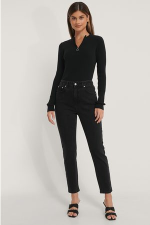 NA-KD Mom Jeans - Black