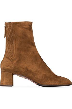 Aquazzura Naiset Nilkkurit - Camel Saint Honore 50 suede ankle boots