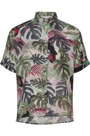 Dedicated Shirt Short Sleeve Nibe Color Leaves Lyhythihainen Paita