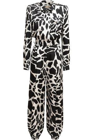 ALEXANDRE VAUTHIER Giraffe Print Twill Jumpsuit