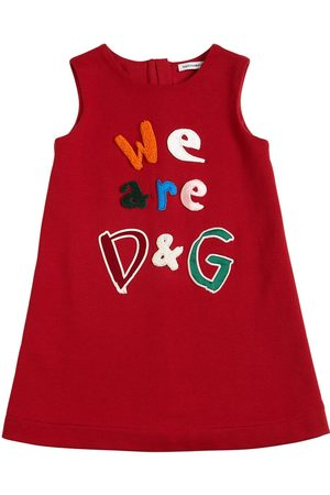 Dolce & Gabbana Cotton Jersey Dress W/ Patches