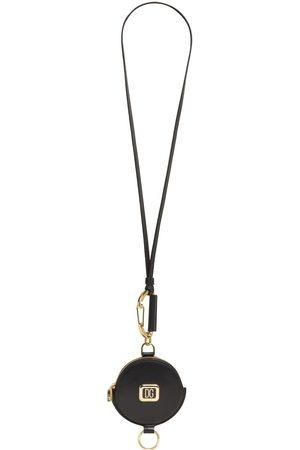 Dolce & Gabbana Metal Logo Label Leather Key Holder
