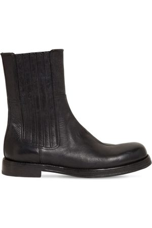 Dolce & Gabbana Miehet Saappaat - 30mm Horse Leather Boots