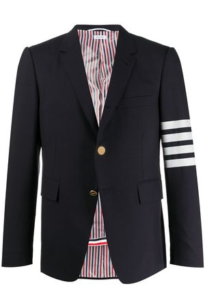 Thom Browne 4-BAR NAVY PLAIN WEAVE CLASSIC SPORT COAT