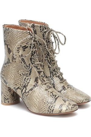 LOQ Agata snake-print leather ankle boots