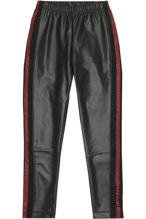 MONNALISA Embellished faux leather leggings