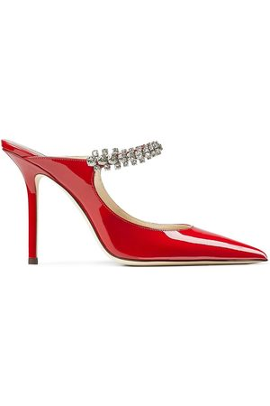 Jimmy Choo Patent leather stiletto pumps with crystal detail