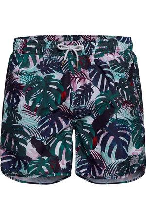 Dedicated Miehet Uimashortsit - Swim Shorts Color Leaves Uimashortsit