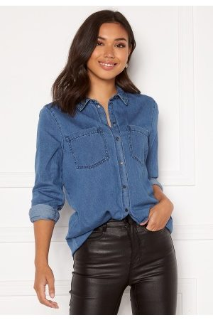 Vero Moda Mila LS Long Shirt Medium Blue Denim L