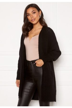 Selected Lulu LS Knit Long Cardigan Black L