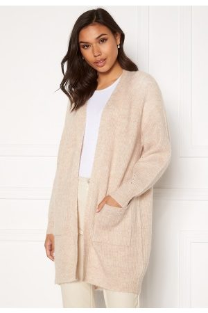 Selected Lulu LS Knit Long Cardigan Birch Detail:Melange M