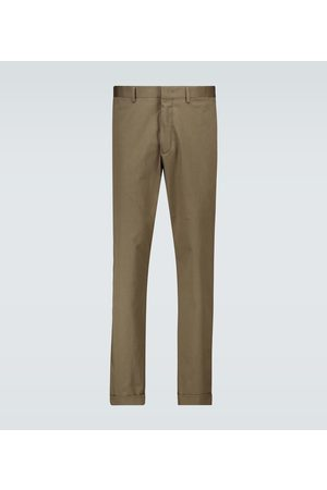 CARUSO Stretch-cotton pants