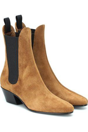 Khaite Saratoga suede ankle boots