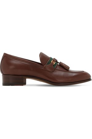 Gucci Paride Gg & Web Leather Loafers