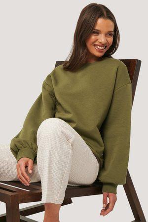 NA-KD Cropped Sweatshirt - Green