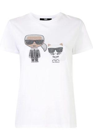 Karl Lagerfeld Naiset T-paidat - Ikonik rhinestone T-shirt
